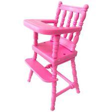 Silla alta para muñecas de plástico silla alta para pequeñas muñecas casa de muñecas accesorios, 125