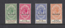 GIBRALTAR SG104-107s - 2/6 to £1 O/PRINTED SPECIMEN - lightly mounted mint