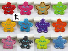 12pcs NEW Embroidered Cloth Iron On T-SHIRT Patches Appliques Star Smile Pattern