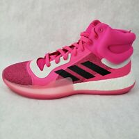 Adidas Marquee Boost Men's Basketball Shoes Pink NBA G28776 Size 14 1/2 Cancer