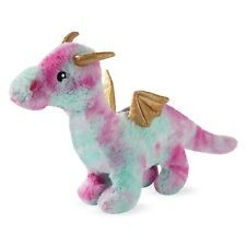Fringe Studio Christmas Magenta Dragon Plush Squeaker Dog Toy