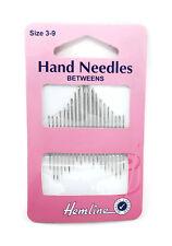 20 Hemline Hand Sewing Needles Betweens/Quilting Size 3-9