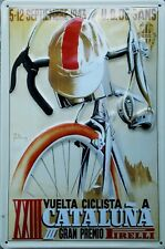 Vintage 1943 Vuelta Cataluna Spanish Cycle Race Poster Print A3//A4