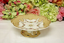 Antique English Porcelain Hand Painted Footed Compote