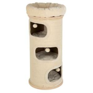 Deluxe Cat Scratch XL Barrel With 4 Cosy Luxury Cushioned Sleeping Areas Cream