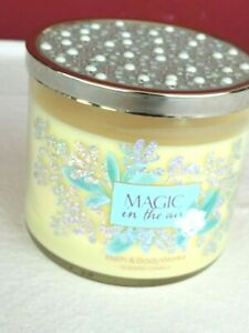 BATH & BODY WORKS MAGIC IN THE AIR 14.5 OZ 3 WINK LARGE  CANDLE PEARL LID