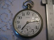 Equity engraved pocket watch Boston 15 jewels Ca.1920
