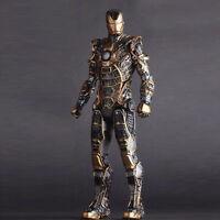 Iron Man 3 Mark Gold MK41 Hulkbuster Bones Action Figure Model Toy Doll Display