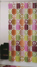 PEVA Peace Sign Shower Curtain Vinyl Colorful Tween Girls 70x72