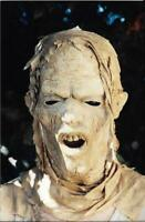 FOUND HOLLYWOOD PHOTO Horror Movie Mask ORIGINAL Color Snapshot VINTAGE 08 22 I