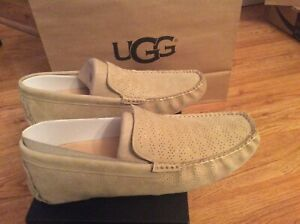 UGG Authentic Mens Henrick Stripe Perf Loafer Drivers Size 10 1014682