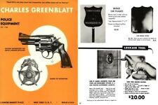Charles Greenblatt 1965 Police Equipment Catalog