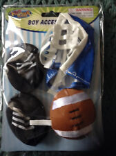 """New *One Football Accessory Pack For an 8-10"""" Teddy Bear or Doll # 100"""