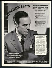 1943 Alexander Brailowsky photo piano recital tour booking vintage print ad