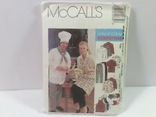 McCall'S #2233 Women'S And Men'S Uniforms, Sm To Xxl Sizes, Uncut W/Instructions
