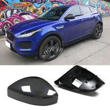 Carbon Fiber Replacement Side Mirror Covers Cap Trim For Jaguar E-PACE 2018-2019