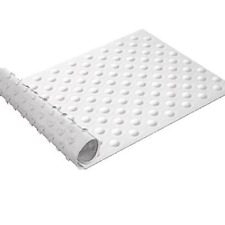 Sabichi  White Suction Grip Rubber Bath Mat 40 x 70cm Non Slip Foot Grip