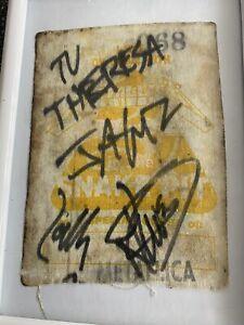 Metallica Snake Pit Pass 1992 Autograph Autogramm Signed
