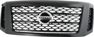 NISSAN TITAN XD 2017-2019 FRONT BLACK GRILLE OEM 62310-EZ55D