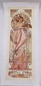 Moet & Chandon White Star 1899 Alphonse Mucha Giclee Canvas Art Print Repro