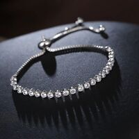 SILVER PLATED MADE WITH SWAROVSKI CRYSTALS BRACELET CHAIN LADIES GIFT SP2 XMAS