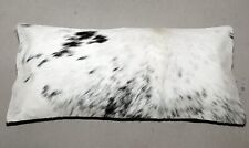 NEW COWHIDE LEATHER CUSHION COVER PILLOW COW HIDE HAIR ON CUSHION E-1226