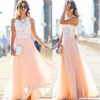 Women Party Ball Formal Wedding Bridesmaid Long Evening Prom Gown Cocktail Dress
