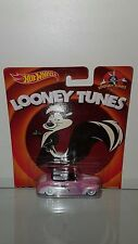 1/64 HOT WHEELS LOONEY TUNES PEPE LE PEW 1940 FORD CONVERTIBLE PINK B56