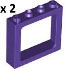 LEGO Dark Purple Window 1x4x3 Knights Bus Harry Potter Modular Creator City MINT