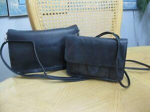 Lot of 2 Derek Alexander Navy Blue Leather Crossbody Handbags Purses