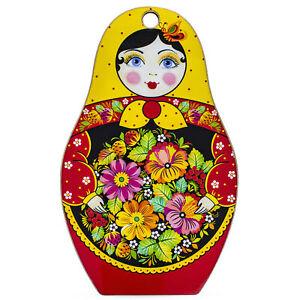 Russian Matryoshka Dolls Decorative Wooden Cutting Board