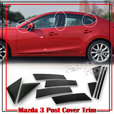 Carbon For Mazda 3 3rd 4D 5D Side Window Pillar Cover Trim GS GT 2016