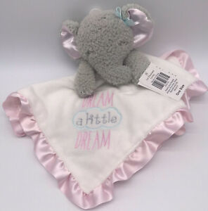 Baby Starters Elephant Lovey Dream a Little Dream Security Blanket Rattle C3