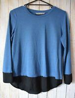 Katies Jumper Size Medium 10 12 Blue Black Long Sleeve Knit