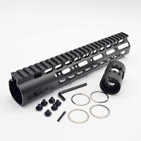 10 Inch Rifle Length Keymod Free Float Quad Rail Handguard Fits 223 5.56