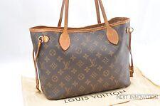 Authentic Louis Vuitton Monogram Neverfull PM Tote Bag M40155 LV 32419