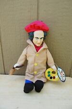 "Three Stooges Vintage Comic Movie Character Larry Doll Plush Tag 2001 14"" Artist"