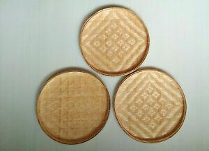 "Bamboo Plate Set3 Wall Decor Woven Threshing Basket  Dish Charger Sushi Tray 8"""