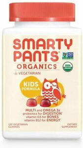 Organic Vegetarian Kids Formula Multi by SmartyPants, 120 gummies