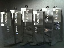 12 X COTTON MENS FOR WORK BUSINESS DRESS SOCKS  SIZE:7-11 BLACK ASSORTED PRINTED
