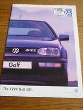 VW GOLF GTI 1997 CAR BROCHURE