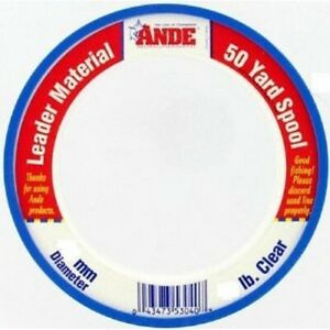 Ande PCW500080 Monofilament Clear 80lb/50yds Fishing Line Leader Spool