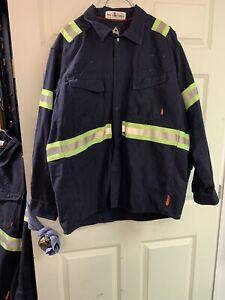 PPE Bulwark Hi Vis MEN'S SHIRTS FR FRC HRC2 FLAME RESISTANT Good Used number 2