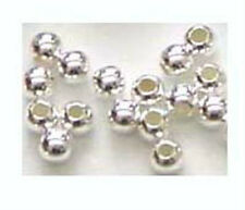 1000 Round Sterling Silver  SEAM Bead Spacer  2mm  bright solid silver S32