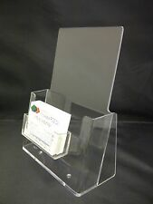 A5 Leaflet Holder Brochure Dispenser & Clip on Business Card Holder Display