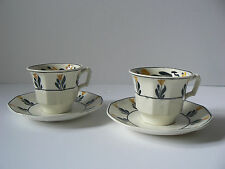 George Jones Sons Heals Arts & Crafts Charles Voysey X 2 Coffee Cup & Saucer