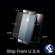 Crystal Clear Front & Back Screen Protector Skin Cover For Apple iPhone 5 5G