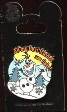 Frozen Olaf All My Best Friends are Flakes Jeweled Disney Pin 112058