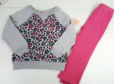 NWT 2 X JUICY COUTURE TOD GIRL PINK TUNIC SHIRT + LEGGING PANTS SET SZ 18/24 M