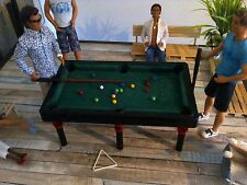 barbie doll size biliard pool table with accessories...